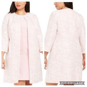 NWT Kasper Plus 3/4-Sleeve Floral Topper Jacket